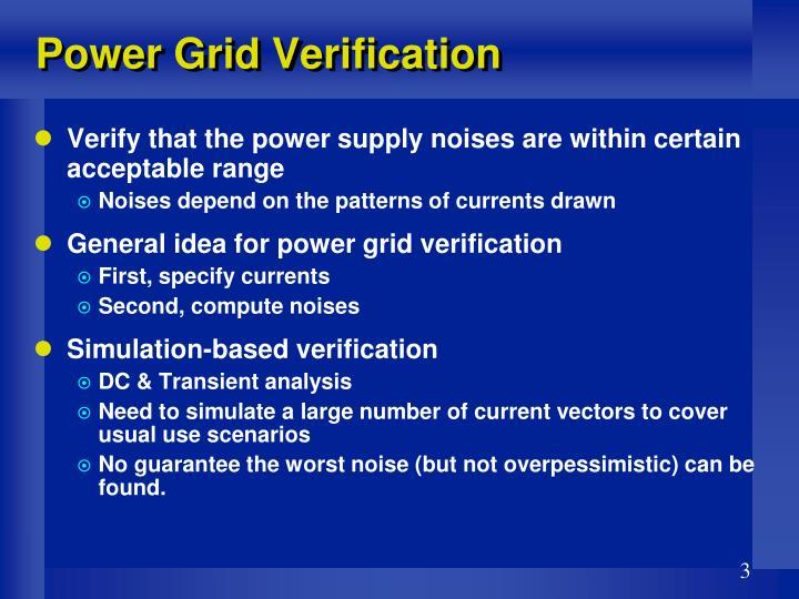 Power Grid Verification