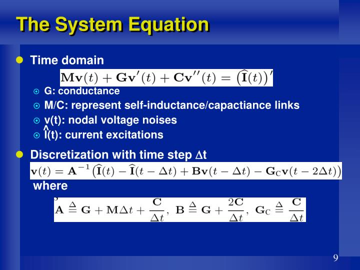 The System Equation