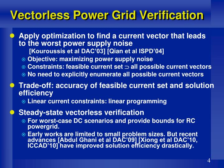Vectorless Power Grid Verification