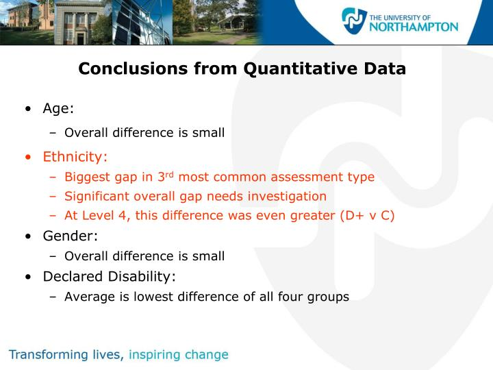Conclusions from Quantitative Data