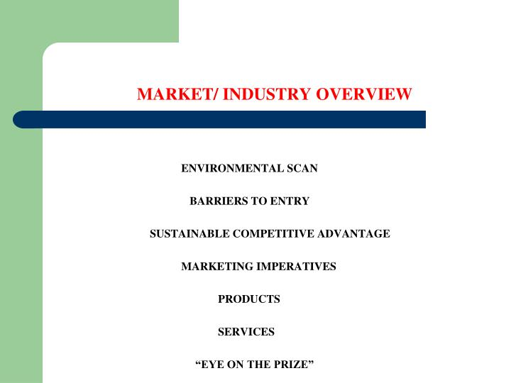 MARKET/ INDUSTRY OVERVIEW
