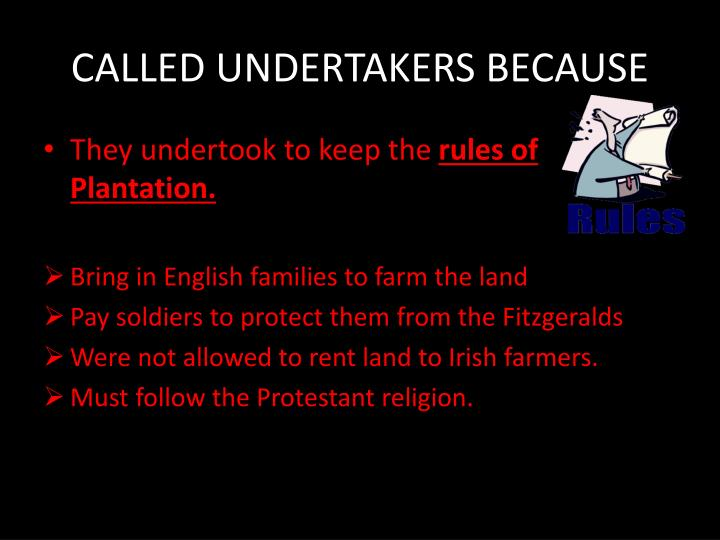CALLED UNDERTAKERS BECAUSE