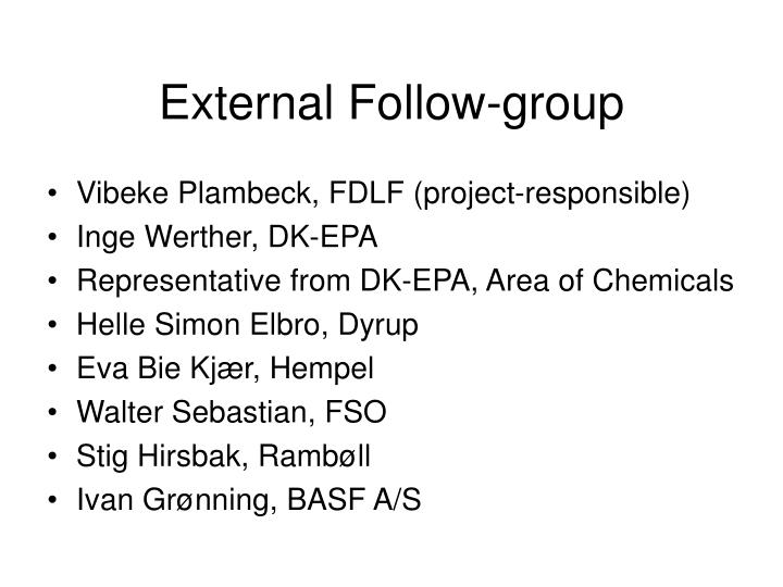 External Follow-group