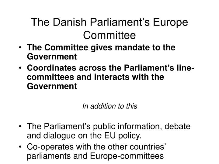 The Danish Parliament's Europe Committee