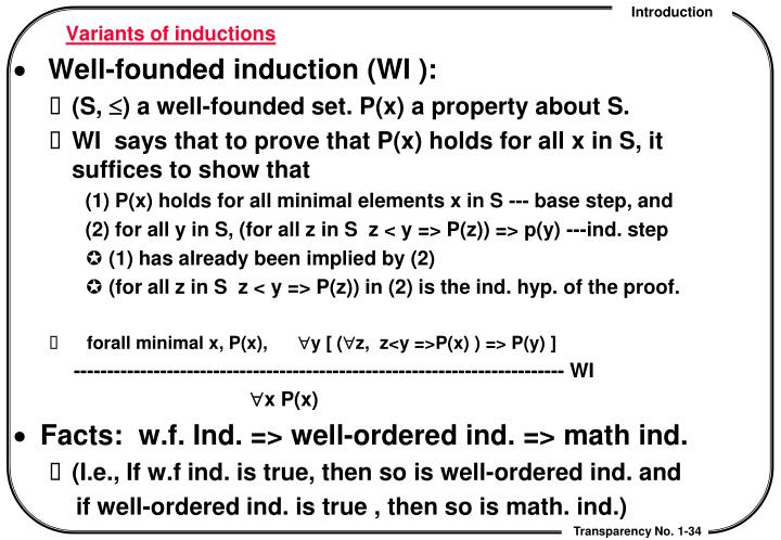 Variants of inductions