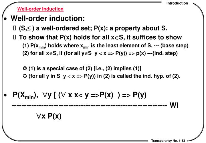 Well-order Induction