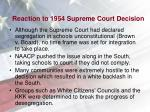 reaction to 1954 supreme court decision