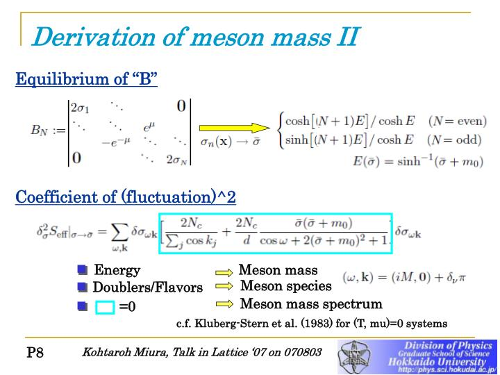 Derivation of meson mass II