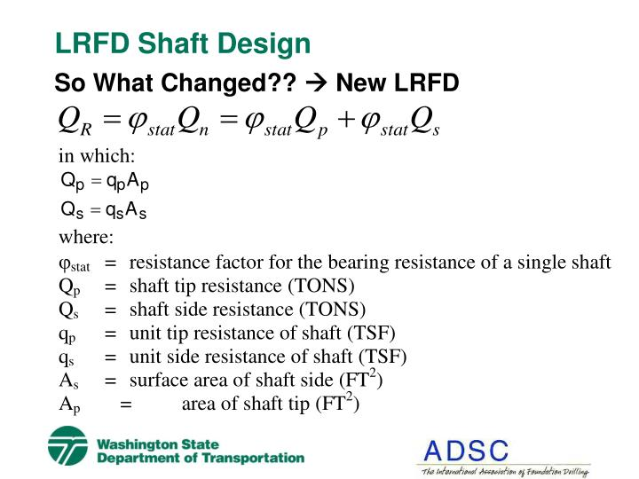 LRFD Shaft Design
