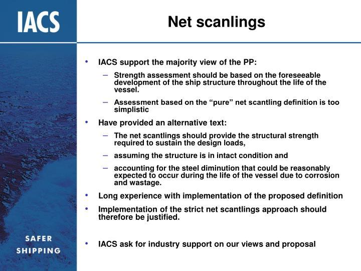 Net scanlings