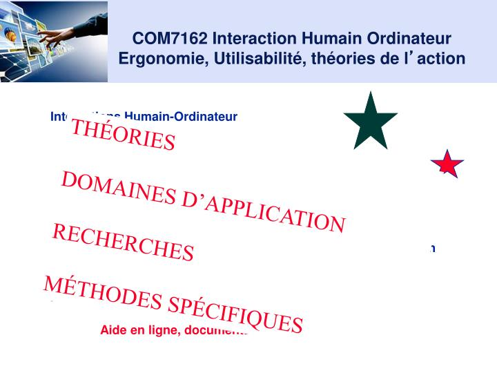 Com7162 interaction humain ordinateur ergonomie utilisabilit th ories de l action