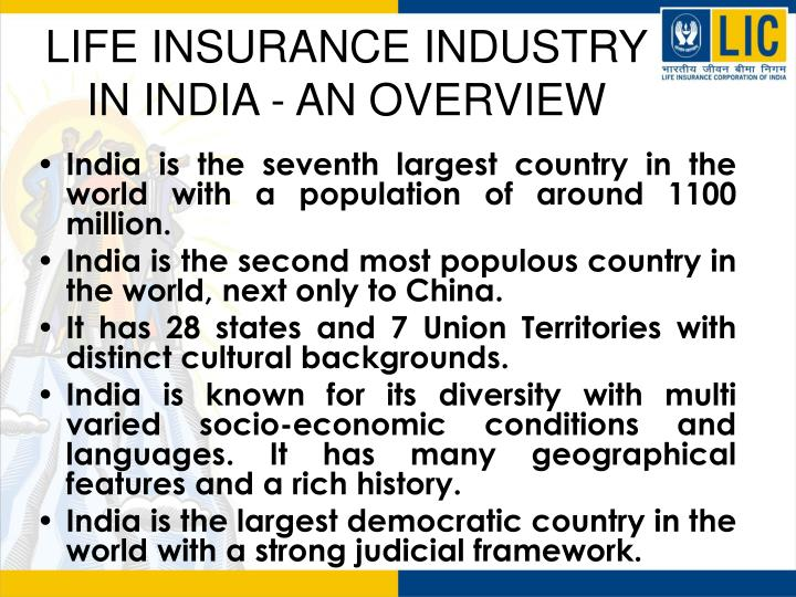 life insurance industry in india Most of the prominent life insurance companies in india offer term life insurance policies for terms such as 10 birla sun life insurance vision life income.