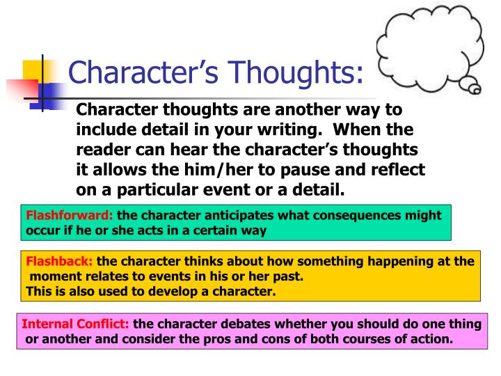Character's Thoughts: