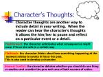 character s thoughts