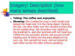 imagery description how many senses described