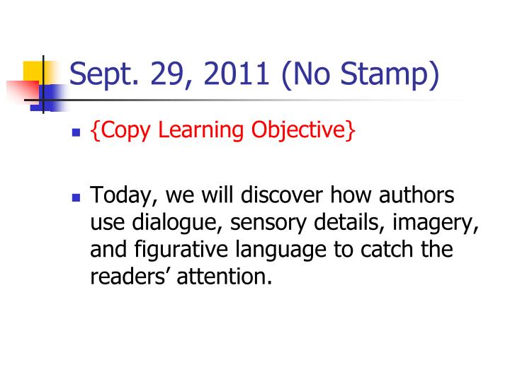 Sept 29 2011 no stamp