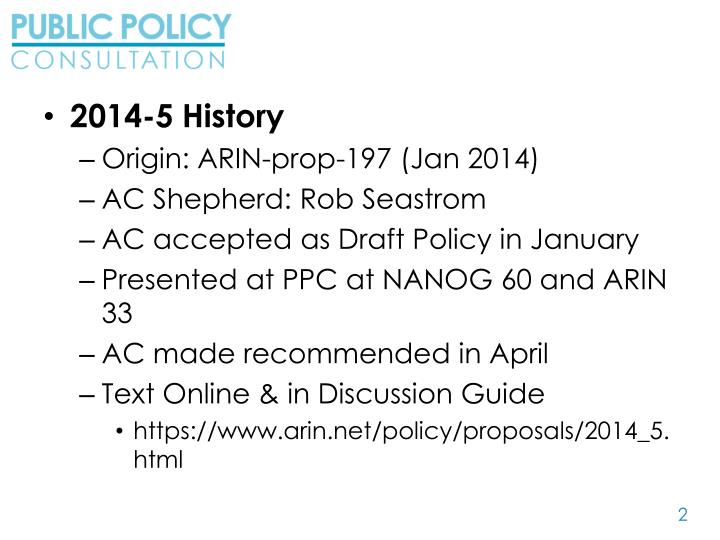 2014-5 History