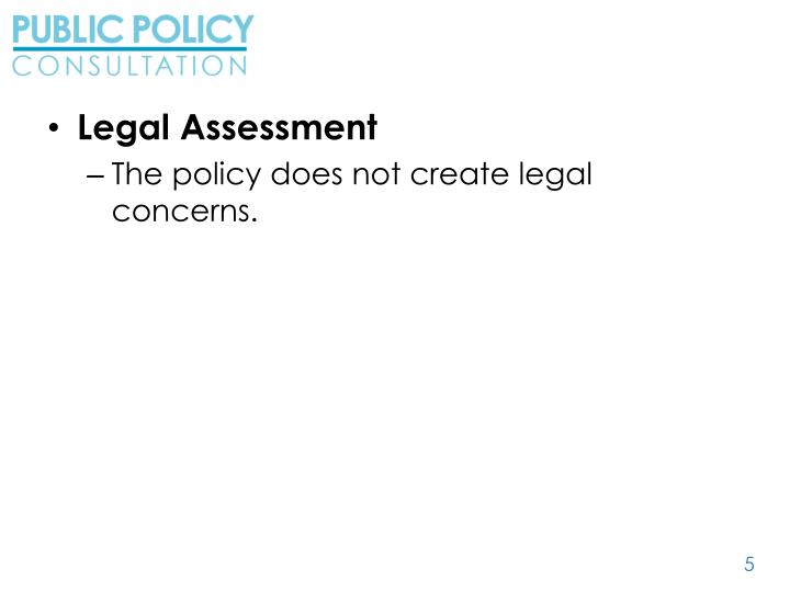 Legal Assessment