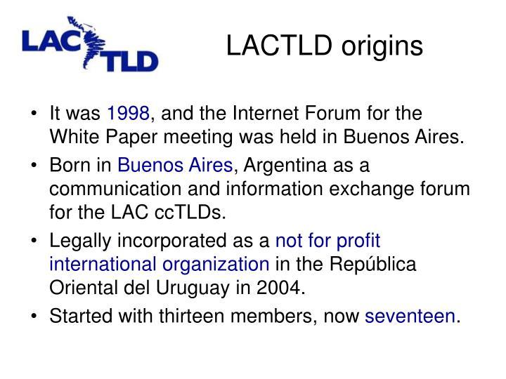 LACTLD origins