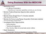 doing business with the medcom1
