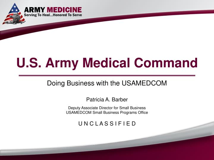 U s army medical command