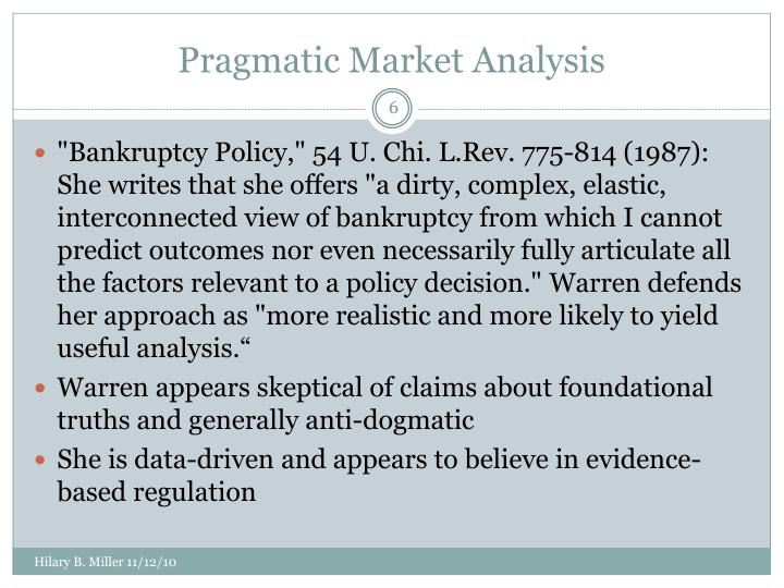 Pragmatic Market Analysis