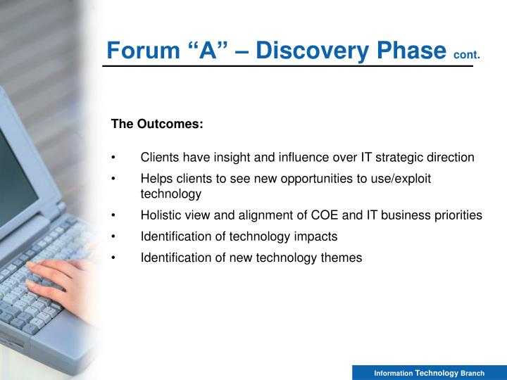 """Forum """"A"""" – Discovery Phase"""