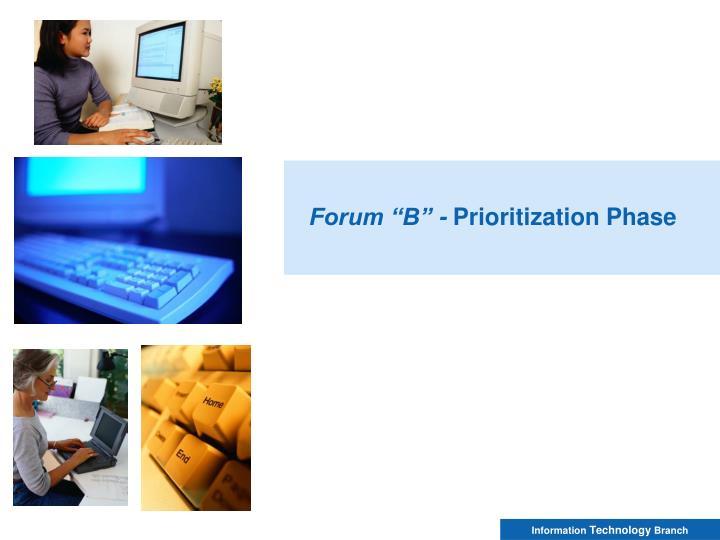"Forum ""B"" -"
