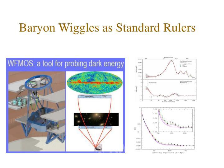Baryon Wiggles as Standard Rulers