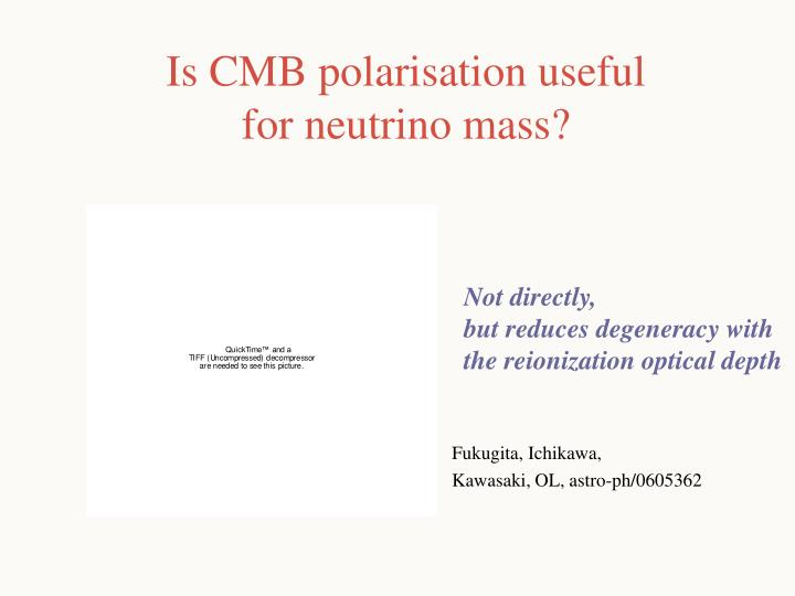 Is CMB polarisation useful