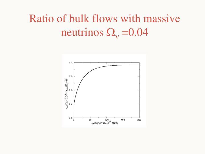 Ratio of bulk flows with massive neutrinos