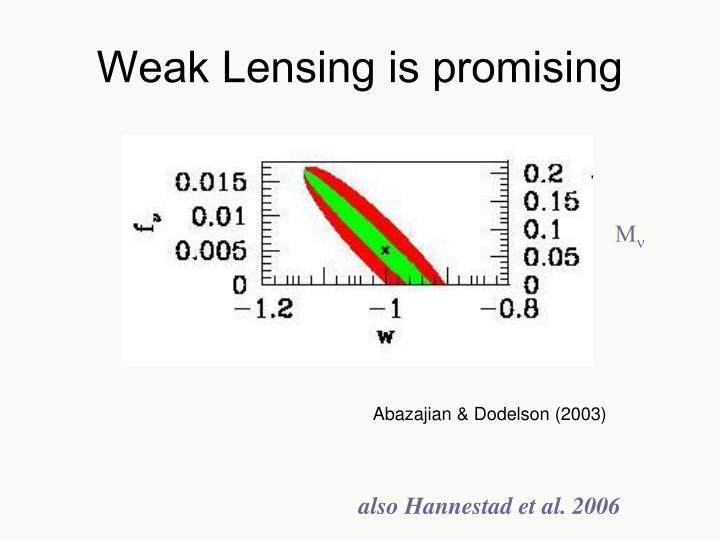 Weak Lensing is promising