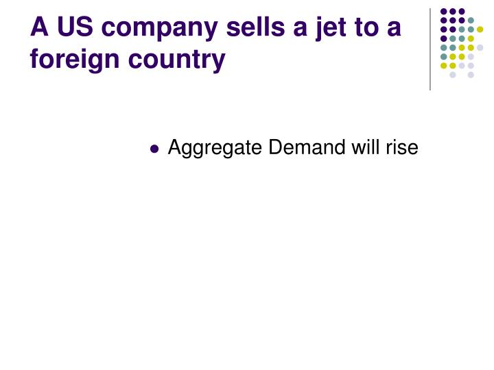 A US company sells a jet to a foreign country