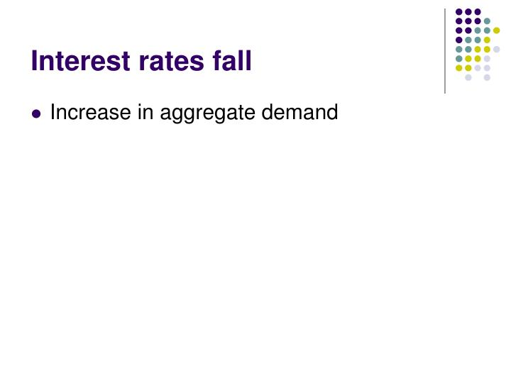 Interest rates fall