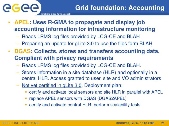 Grid foundation: Accounting