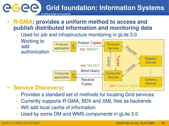 Grid foundation: Information Systems