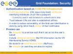 grid foundation security