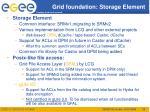 grid foundation storage element