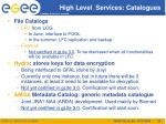 high level services catalogues