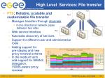 high level services file transfer