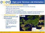 high level services job information