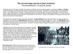 the second major period of plant evolution the diversification of vascular plants