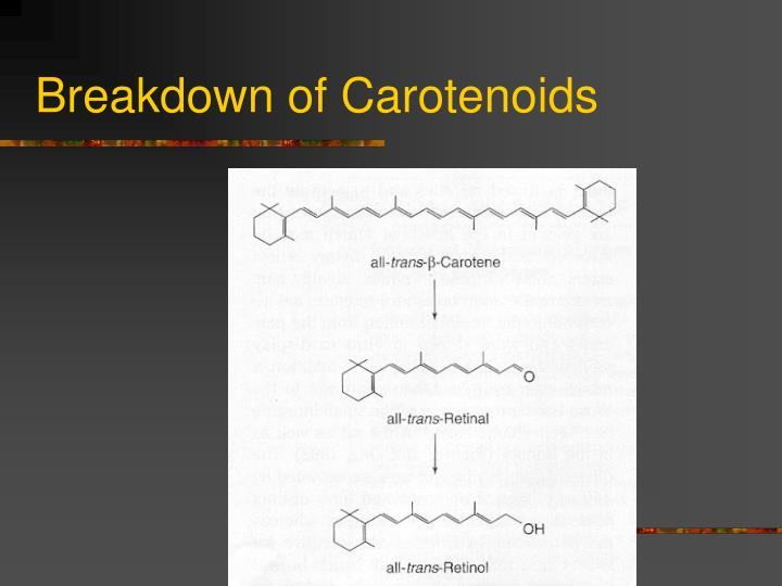 Breakdown of Carotenoids
