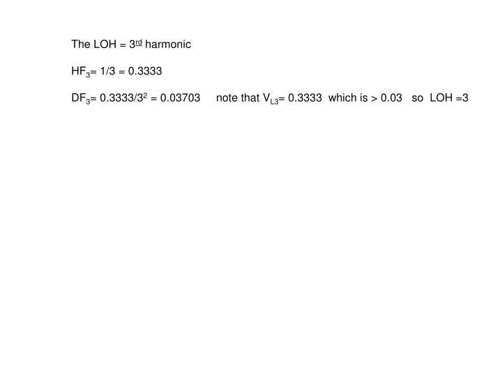 The LOH = 3