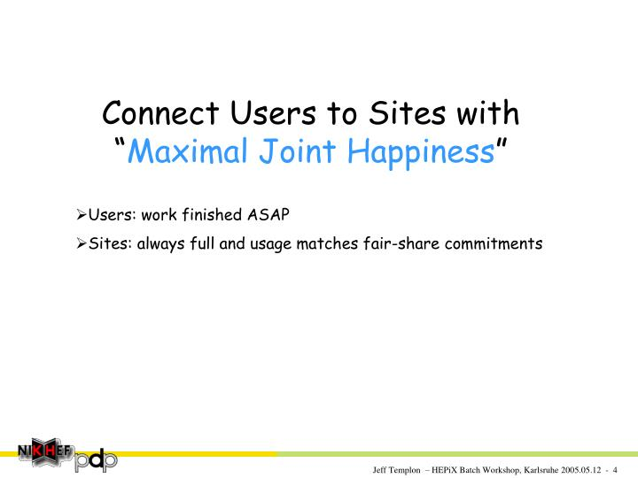 Connect Users to Sites with ""