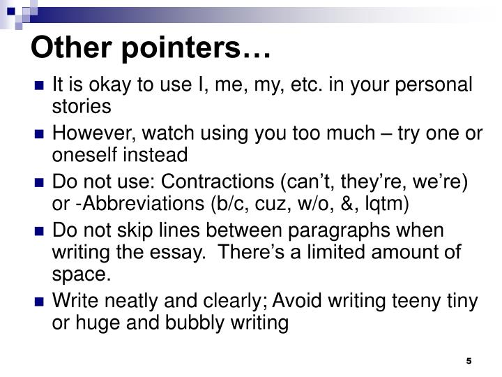 Other pointers…
