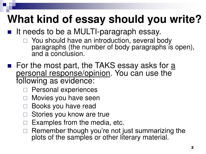 What kind of essay should you write?