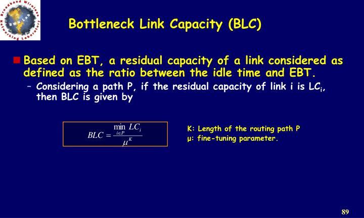 Bottleneck Link Capacity (BLC)
