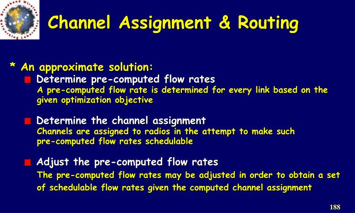 Channel Assignment & Routing
