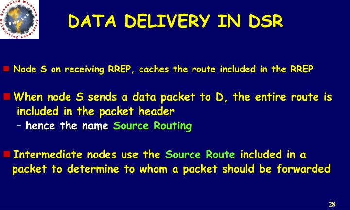 DATA DELIVERY IN DSR